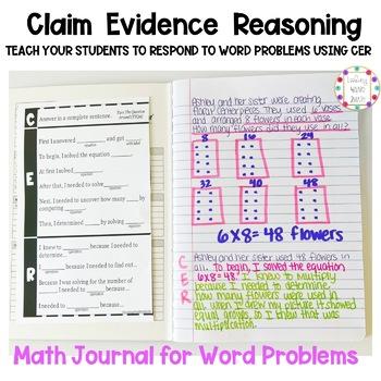 Written Response Math Journal CER
