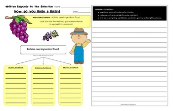 Written Response Organizers & Tests aligned to Reading Street Common Core Gr. 3