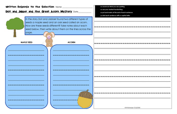 Written Response Organizers & Tests aligned to Reading Street Gr. 1-Unit 5