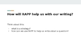 Written Response Practice!