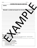 Written Response Template with Rubric & Reminders