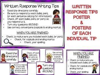 Written Response Tips--Open-Ended Response Tips--Extended Response Tips