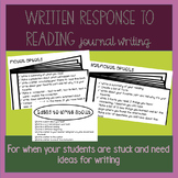 Written Response To Reading Journals
