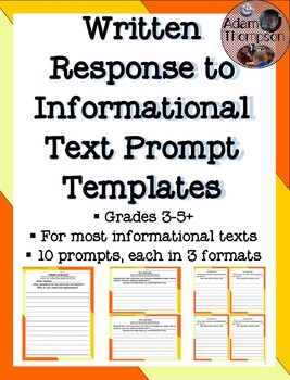 Written Response to Informational Text Prompts