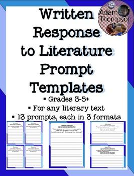 Reading Response: Written Response to Literature Prompts