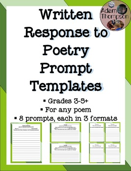 Response to Poetry Prompt Templates