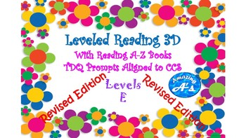 Written Response to Reading A-Z Books for Level E! CCS and TRC aligned