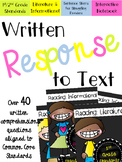 Written Response to Text