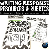 Written Response to Text { writing resources and rubrics}