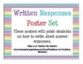 Written Responses Poster Set Guide Short Answer Responses