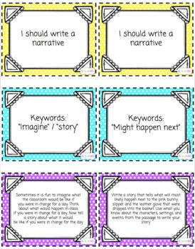 Written Responses / Types of Writing Matching Game
