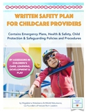 Written Safety Plan for Child Care Providers (for settings