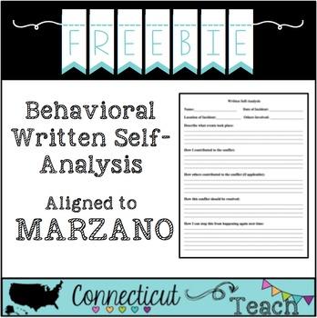 Written Self-Analysis