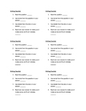 Written Short Answer Checklist