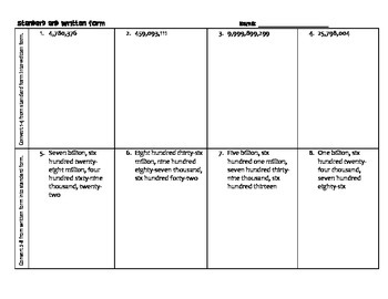Written & Standard Form