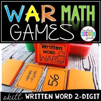 Written Word 2 Digit War Game