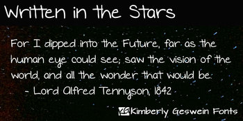 Written in the Stars Font: Personal Use