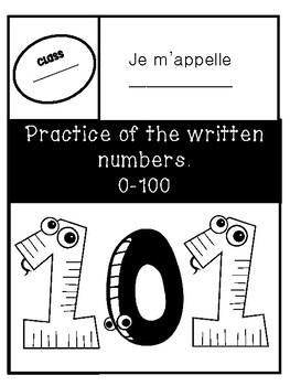 Written Number Practice 0-100 - Pratique des nombres de 0-100