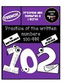 Written Number Practice 100-999 - Pratique des nombres de 100-999