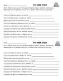 Written rock cycle worksheet/ Igneous, Metamorphic, Sedime