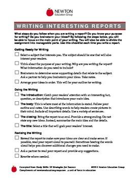 Writing interesting Reports