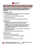 Writing Interesting Stories