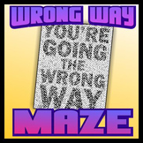 Wrong Way Pictorial Maze - Intricate, full-page maze activity