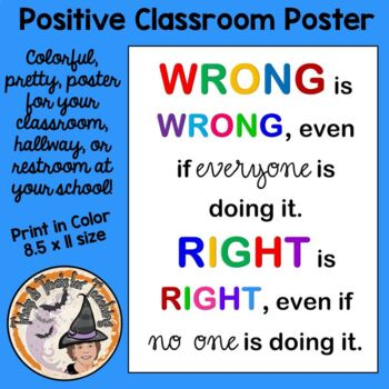 Wrong is Wrong, Right is Right Poster Motivation Character Behavior