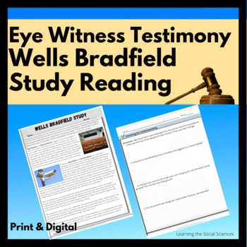 Wrongful Convictions: The Wells-Bradfield Experiment Quick Read: 1 Page Reading
