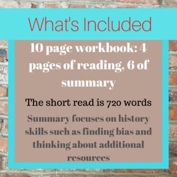 Wu Zetian Short Read with Workbook Summary