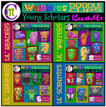 Monsters Clip Art Lil' Scholar's BUNDLE