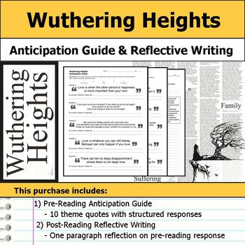 Wuthering Heights - Anticipation Guide & Written Reflection
