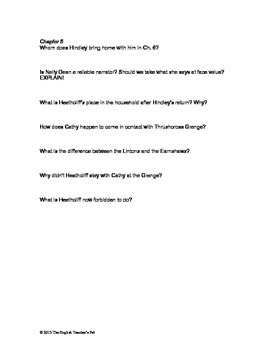 wuthering heights chapter questions and answer keys tpt rh teacherspayteachers com 9.3 Study Guide Low Pressure Boiler