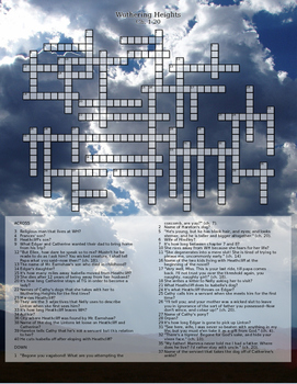 Wuthering Heights Chapters 1-20 Crossword