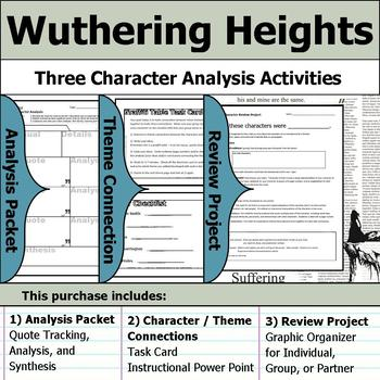 Wuthering Heights - Character Analysis Packet, Theme Connections, & Project