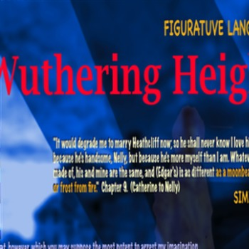 Wuthering Heights Figurative Language Poster