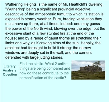 Wuthering Heights Grammar Passages