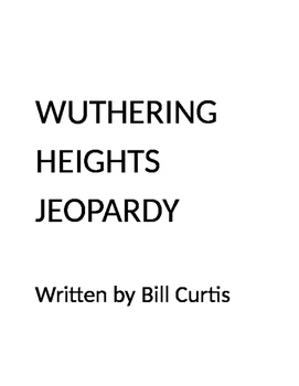 Wuthering Heights Jeopardy