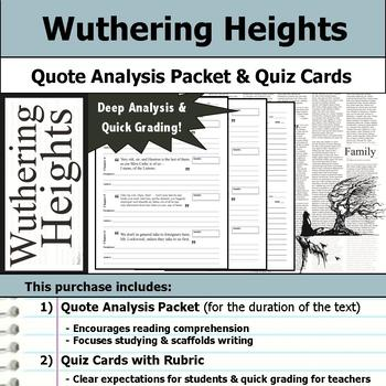Wuthering Heights - Quote Analysis & Reading Quizzes