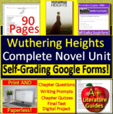 Wuthering Heights Distance Learning Novel Study: Printable + Google Classroom!