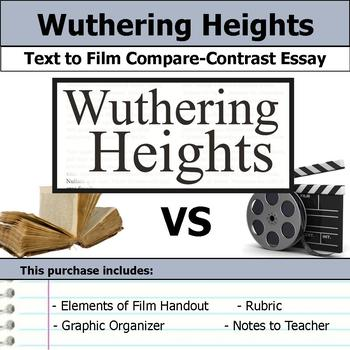Wuthering Heights - Text to Film Essay Bundle