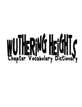 Wuthering Heights Vocabulary Dictionary