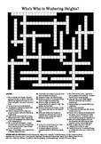 Wuthering Heights - Who's Who Crossword Puzzle