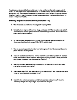 Proposal Essay Wuthering Heights Quotes Discussion Questions Essay Prompts Process Paper Essay also Important Of English Language Essay Wuthering Heights Quotes Discussion Questions Essay Prompts  Tpt High School Reflective Essay Examples