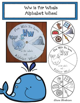 Ww is for Whale Alphabet Wheel
