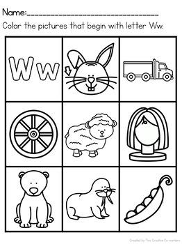 Letter W { Alphabet Practice }