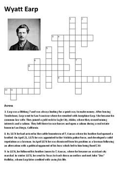 Wyatt Earp Crossword