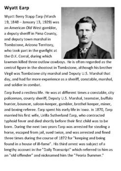 Wyatt Earp Handout