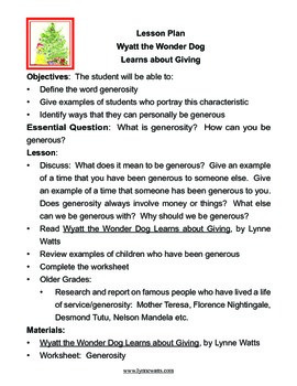 Giving:  Wyatt the Wonder Dog Learns about Giving
