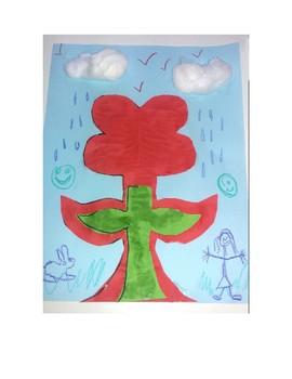Wycinanki Corn Poppy Flowers